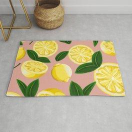pink lemons Rug