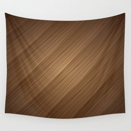 Slanted Texture On Wood Wall Tapestry