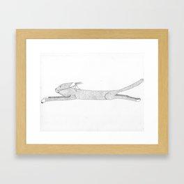 Flying Cat with Female Pilot Framed Art Print