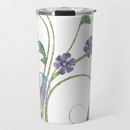 Glitter Butterflies Travel Mug