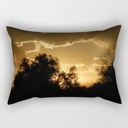 Golden Lake Sunset Rectangular Pillow