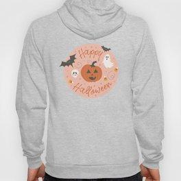 Pumpkin Party on Blush Pink Hoody
