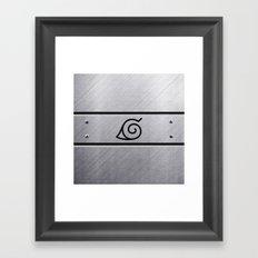 Naruto Headband Framed Art Print