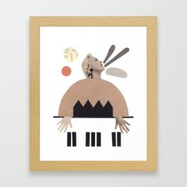 La pianista de jazz Framed Art Print