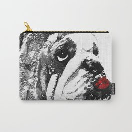 Bulldog Pop Art - How Bout A Kiss 2 - By Sharon Cummings Carry-All Pouch