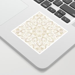 Boho Chic gold mandala design Sticker