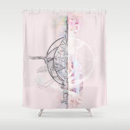 Torn Shower Curtain