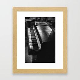 Vintage Keyboard Framed Art Print