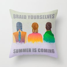 Braid yourselves Throw Pillow