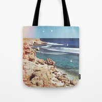 dolphins Tote Bags featuring Dolphins by Mermaid's Coin Surf Art * by Hannah Kata