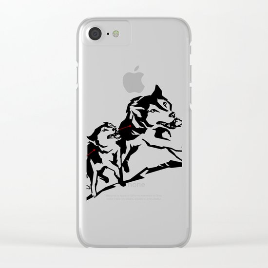 sknowledge // (husky team) Clear iPhone Case