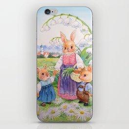 easter rabbit iPhone Skin