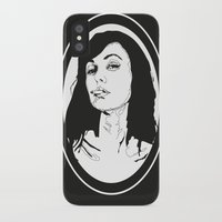 smoking iPhone & iPod Cases featuring Smoking by Anna McKay