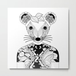 Portrait of a teen mouse wearing a T-shirt Metal Print