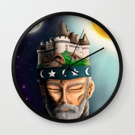 thoughtful wise Wall Clock