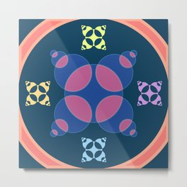 016 Abstract blue, orange and purple pattern for home decoration Metal Print