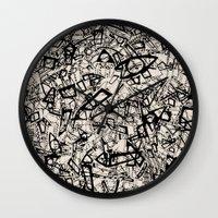 newspaper Wall Clocks featuring - newspaper - by Magdalla Del Fresto