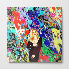 Amber Heard - Celebrity Art Metal Print