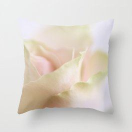 Pale pink macro rose Throw Pillow