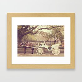 New Orleans Carriage Ride Framed Art Print