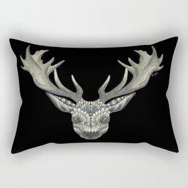 'Masked Stag' - Black Bakcground Rectangular Pillow