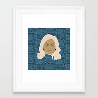 parks and recreation Framed Art Prints featuring Leslie Knope - Parks and recreation by Kuki