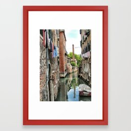 Laundry Day in Venice Framed Art Print