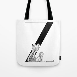 Mermaid Alphabet Series - Z Tote Bag