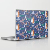 camp Laptop & iPad Skins featuring Bear camp by Demi Goutte