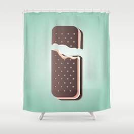 I is for Ice Cream. Shower Curtain