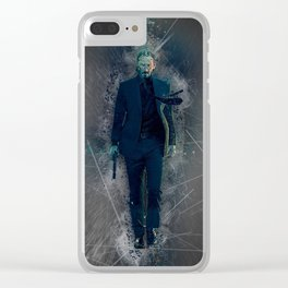 John Wick Abstract Clear iPhone Case