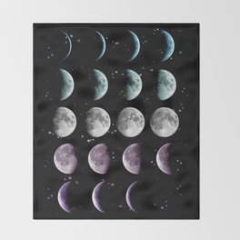 Moon Phase Throw Blanket