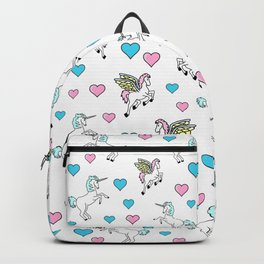 Unicorns and Pegasus and Hearts Backpack