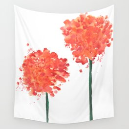 2 abstract geranium flowers Wall Tapestry