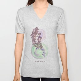 14 // Abstract 9 March 2017 | Abstract Shapes Art Colour Unisex V-Neck