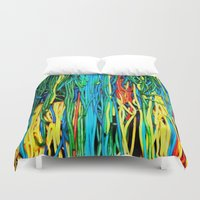 anxiety Duvet Covers featuring Anxiety by Yolanda's Prints