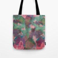 tie dye Tote Bags featuring Pink Tie-dye by Marcelo Romero