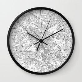 Hanover Map Line Wall Clock