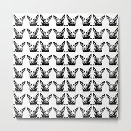 Mitzi black and white, pattern Metal Print