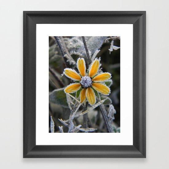 frozen smile Framed Art Print