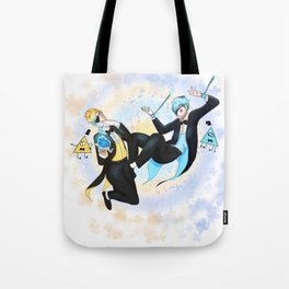 Bill and Will Cipher Tote Bag