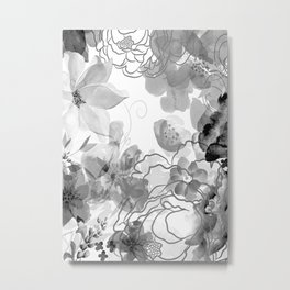 Rosie Outlook - grayscale Metal Print