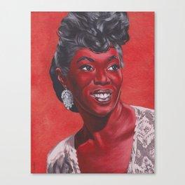 Ladies in Red: Sarah Vaughan Canvas Print