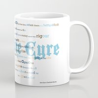 jane eyre Mugs featuring Jane Eyre Quote by Lisa Naselli