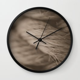 Sepia Macro Photography Nautical Rope Wall Clock