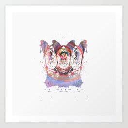 Inknograph XVI - Rorschach Art Art Print