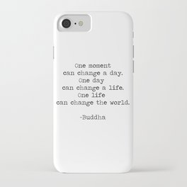 Make the moments count iPhone Case