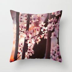 Pink Wind Throw Pillow