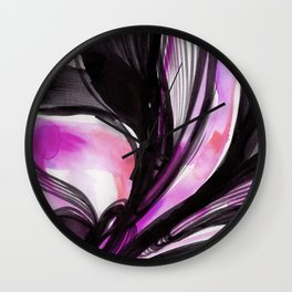 Organic Embrace 3B by Kathy Morton Stanion Wall Clock
