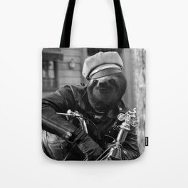 Sloth on a Motorcycle Tote Bag
